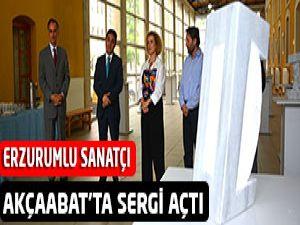 Erzurumlu Sanatçı Akçaabat'ta Sergi Açtı