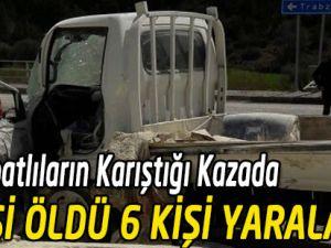 Zincirleme trafik kazasında 2 kişi öldü, 6 kişi yaralandı.