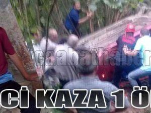 Akçaabat'ta Feci Kaza 1 Ölü