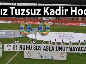 PTT 1. Lig'de 1461 Trabzon, sahasında Ankaraspor ile 0-0 berabere k