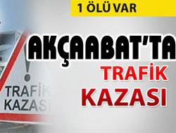 Akçaabatta Trafik Kazası;1 Ölü...