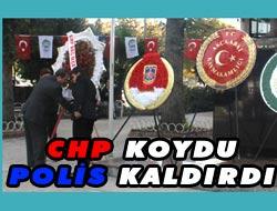 CHPnin Çelengi Kaldırıldı