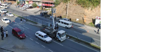 Akçaabatta Trafik Kazası 4Yaralı