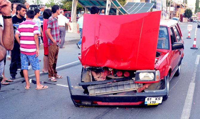 Akçaabat Kavaklı'daTrafik Kazası 2 Yaralı.