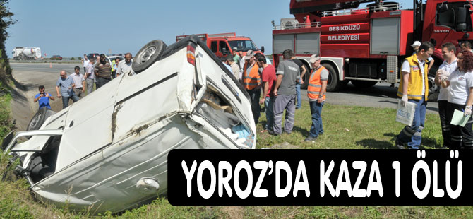 Trabzon'da minibüsün şarampole devrilmesi sonrucu bir kişi hayatını kaybetti.