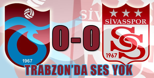 Trabzonspor Sivas ile Hesabı Göremedi