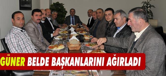Başkan Aday dayı olan Ahmet Güner, belde başkanlarını ağırladı