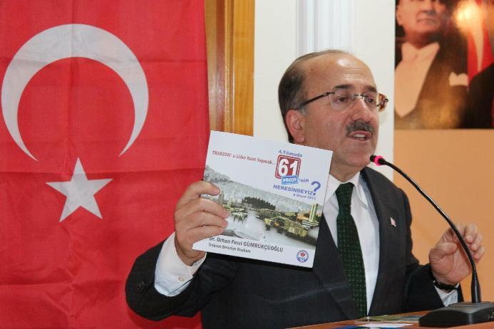 Gümrükçüoğlu Akçaabat'ta 61 projeyi anlattı.