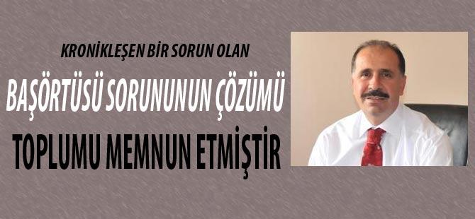 Osman Çavuş başörtüsü Sorununu Çözenlere teşekkür etti.