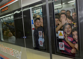 Marmaray'da  Yolcu Sayısı 1 Milyonu Aştı
