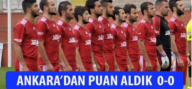 Akçaabat FK Ankara'dan 1 Puanla dönüyor.