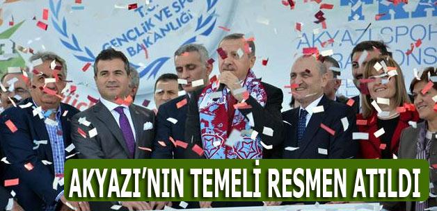Erdoğan Akyazı Stadyumu ve Tesisleri'nin temel atma törenine katıldı