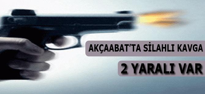 Akçaabat'ta kavgada  2 kişi tabanca ile yaralandı