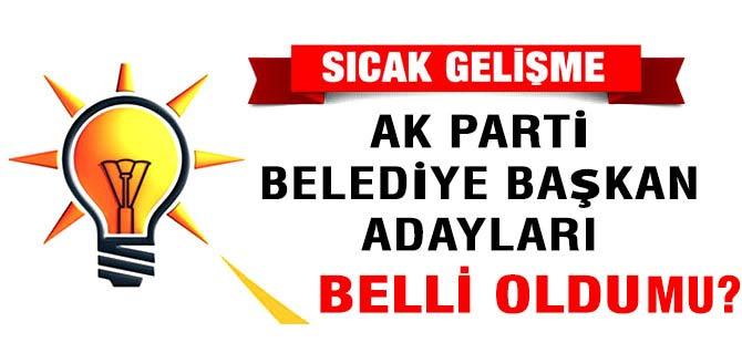 AK Parti Trabzon ilçe belediye başkan adayları belli oldu mu?