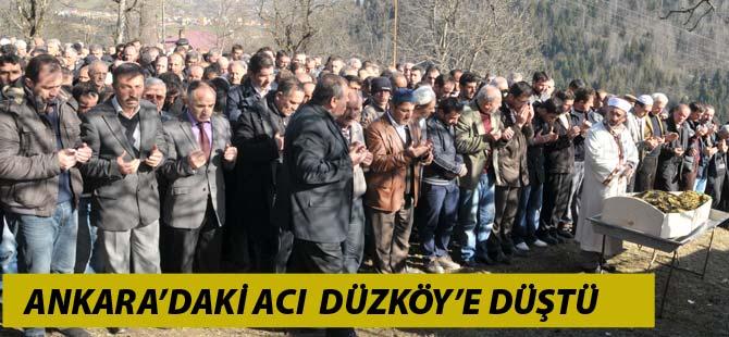 Düzköy'e Acı Haber Ankara'dan Geldi
