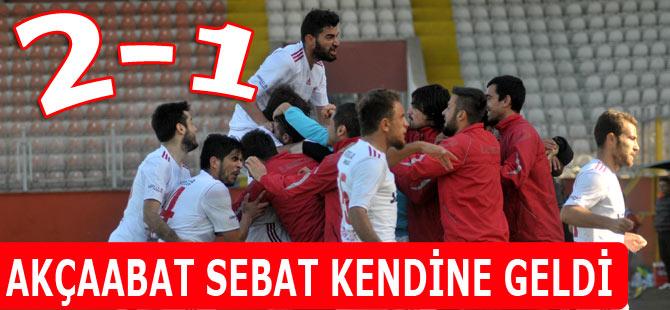 Akçaabat FK Rakibini 2-1 mağlup etmeyi başardı.