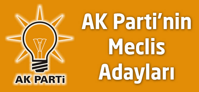 AK Parti'nin  Meclis Aday Listesi