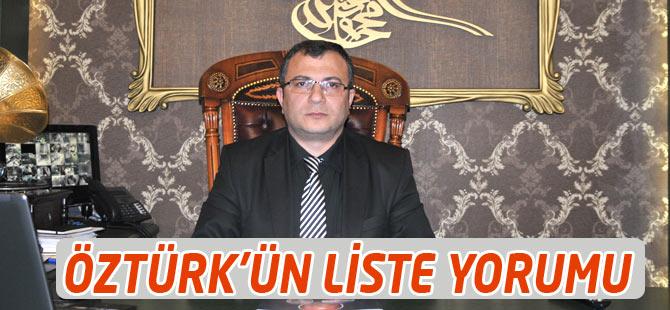 Akçaabat İlçe Başkanı  Ahmet Ziya Öztürk'ün Liste Açıklaması