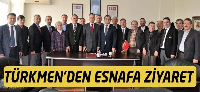 AK Parti Adayı Şefik Türkmen'den Esnaf Odasına Ziyaret
