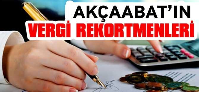 Akçaabat'ın gelir vergisi rekortmenleri açıklandı.