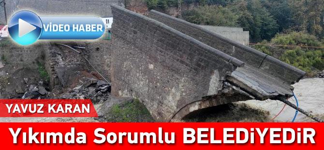 Tarihi Köprü Önünde Sert Açıklama