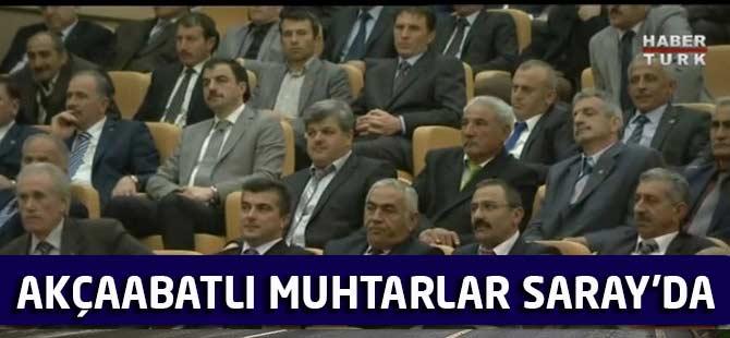 Cumhurbaşkanı Erdoğan,  Cumhurbaşkanlığı Külliyesi'nde muhtarlarla bir araya geldi.