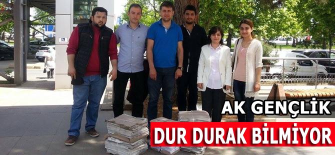 AK Parti Akçaabat Gençlik kolları durmuyor.