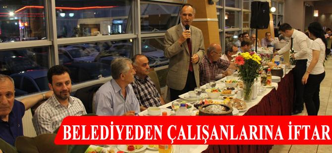 Akçaabat Belediyesi çalışanları iftar yemeğinde buluştu.