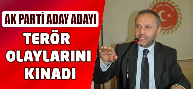 AK Parti Milletvekili aday adayı Tosun, terör olaylarını kınadı