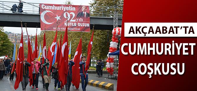 Akçaabat'ta Cumhuriyet Coşkusu