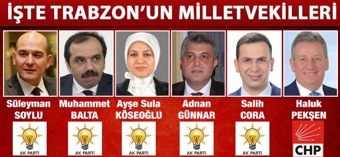 İşte Trabzon'un Milletvekilleri