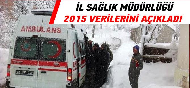 İl Sağlık Müdürlüğü 2015 Verilerini Açıkladı