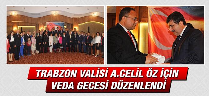 Vali A. Celil Öz'e Veda Gecesi Düzenlendi