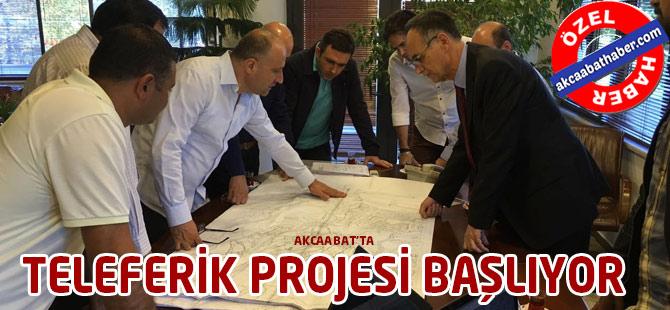 Teleferik Projesi Başlıyor