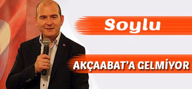 Bakan Soylu Trabzon programını iptal etti