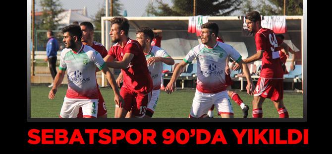 Sebatspor 90'da Yıkıldı