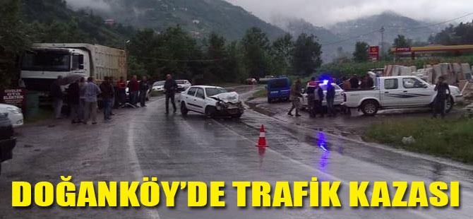 Doğanköy'de Trafik Kazası