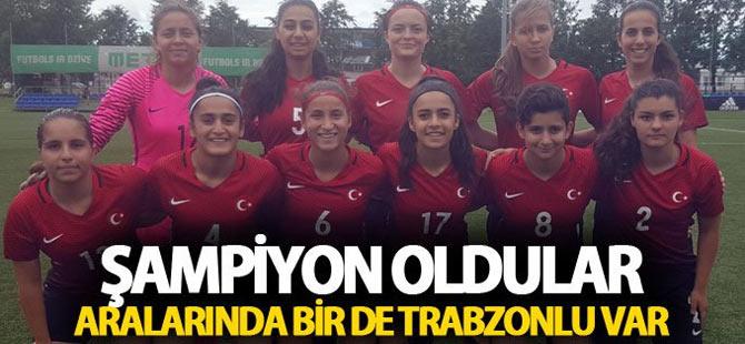 Trabzonlu ismin bulunduğu U17 Milli takımı şampiyon oldu