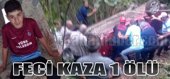 Akçaabat'ta Kaza 1 Ölü 2 Yaralı
