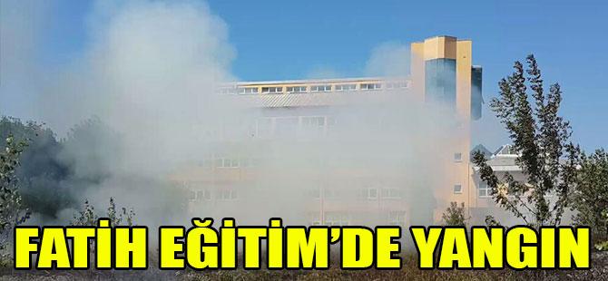 KTÜ'deki yangın kısa sürede söndürüldü