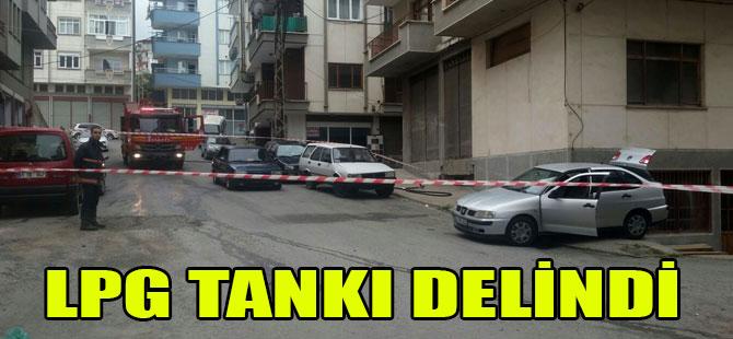 LPG Tankı Delindi