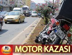 Motorsiklet Kazası, 2 yaralı