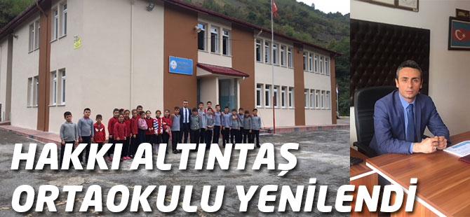 Hakkı Altıntaş Ortaokulu Yenilendi