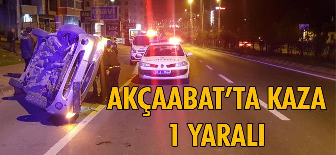 Akçaabat'ta kaza 1 Yaralı