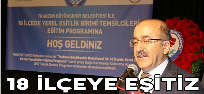 Trabzon'un 18 ilçesinde yerel eşitlik masası kuruluyor