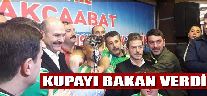 Kupa Süleyman Soylu'dan