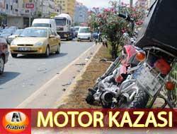 Motosiklet Öğrenciye Çarptı