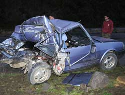 Salacıkta Kaza 2 Yaralı