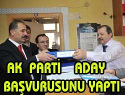 İlk Başvuru AK Partiden
