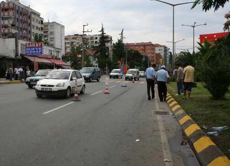 Akçaabatta kaza 1 yaralı